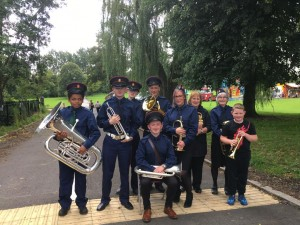 All Saints' Church Lads' and Church Girls' Brigade at the Heaton Norris Fun day, August 2019